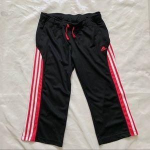 Women's Adidas Capris Black/Pink/White Medium